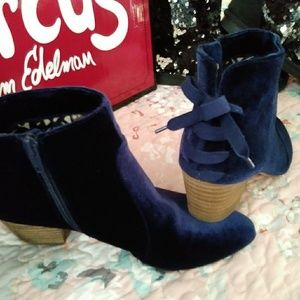 Restricted Blue Suede Booties Size 7